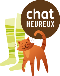logo chat heureux